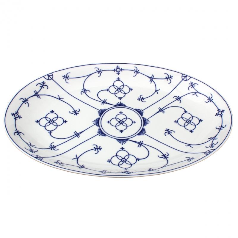 Tallin | Indischblau | Platte oval 36cm