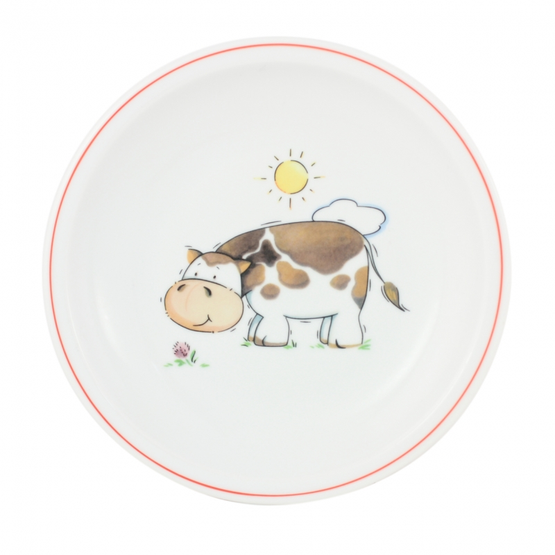 Kindergedecke | Kuh | Teller flach 20cm