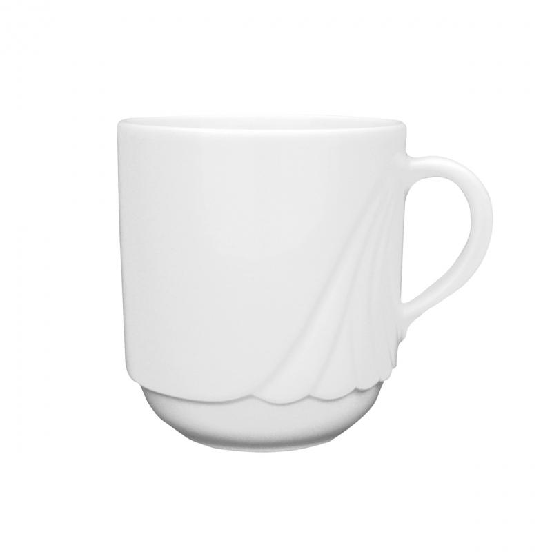 Ambiente | Weiß | Becher mit Henkel 0,26l