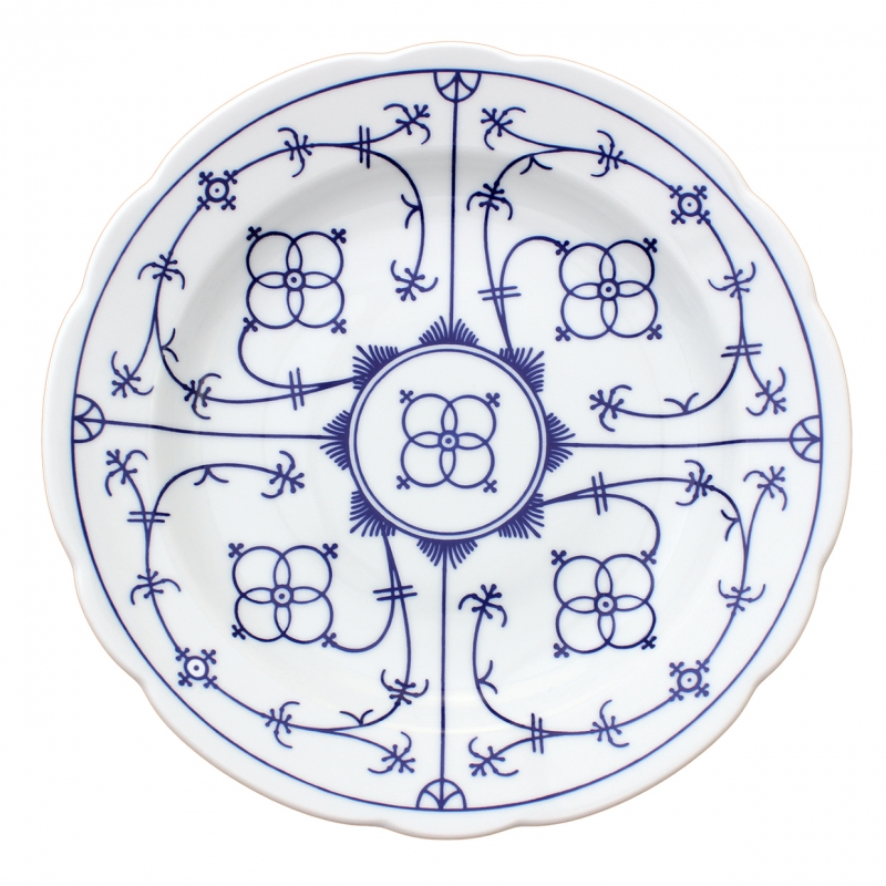 Tallin | Indischblau | Teller tief festoniert 24cm