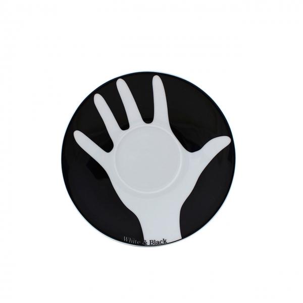 Table Selection | Opposites white & black | Untertasse 16cm