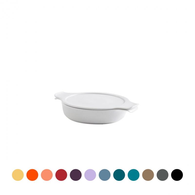 COOK & SERVE | Topf flach mit Deckel 0,60 l / 18 cm