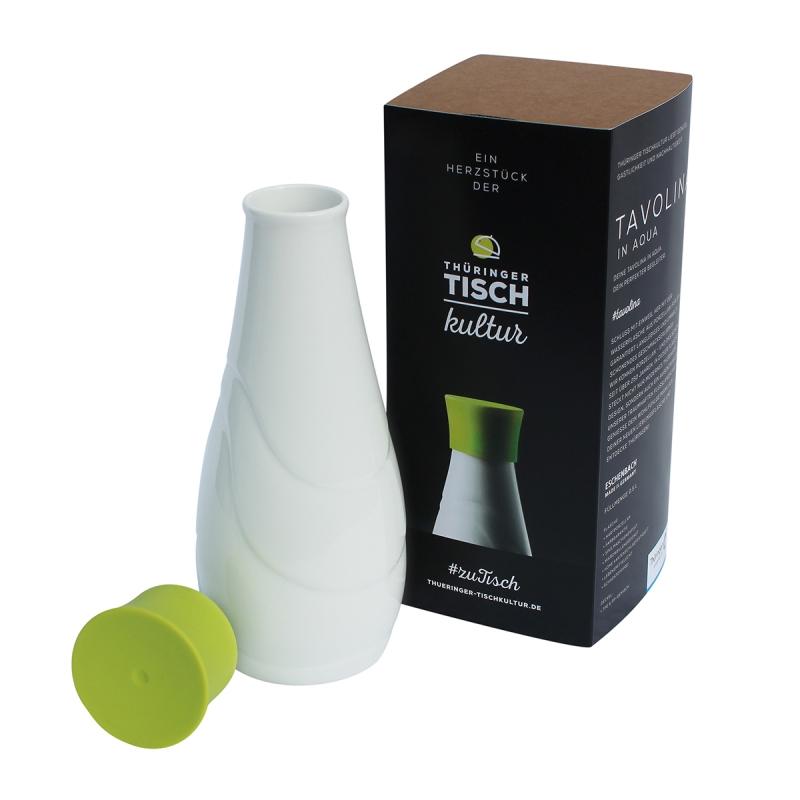 Eschenbach | Weiss | Tavolina Porzellantrinkflasche 0,50l | limette