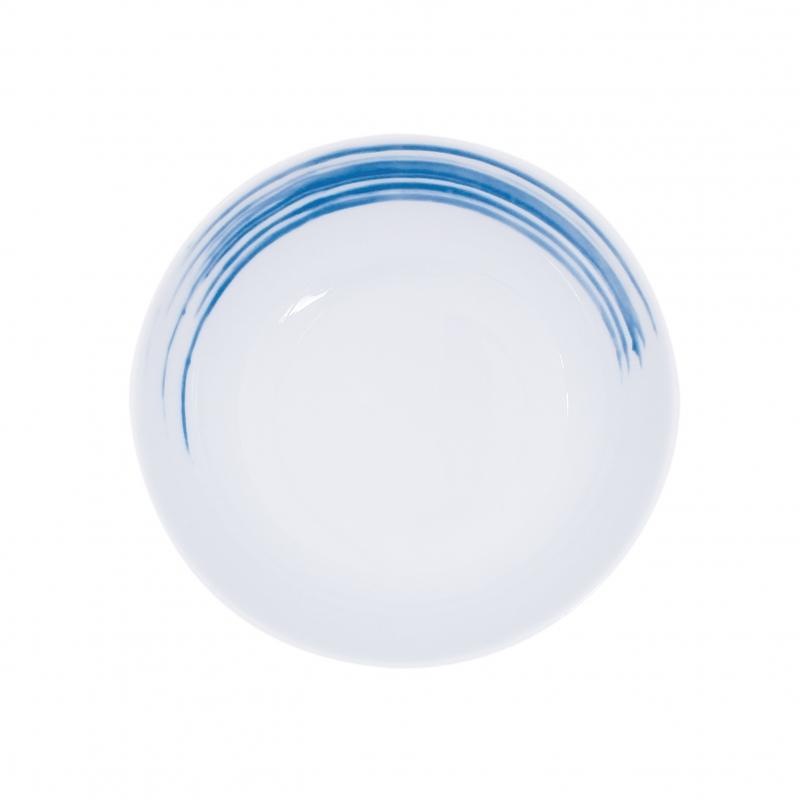 Simply Coup | Pinselstriche blau | Teller tief coup 14cm