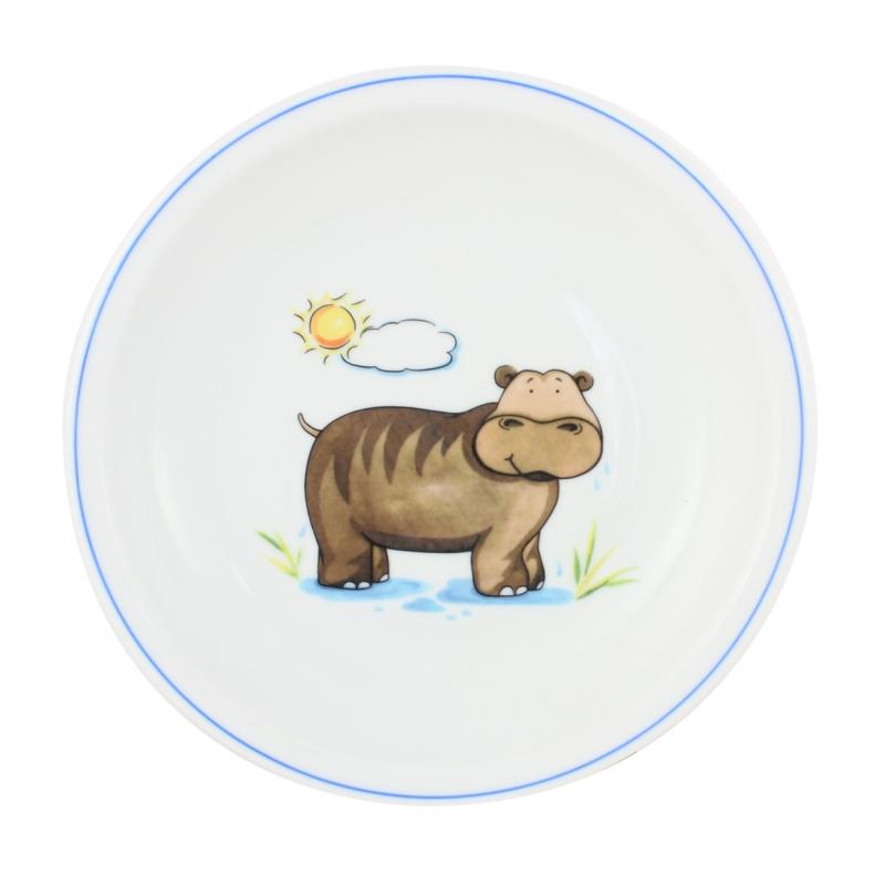Kindergedecke | Nilpferd | Teller flach 20cm