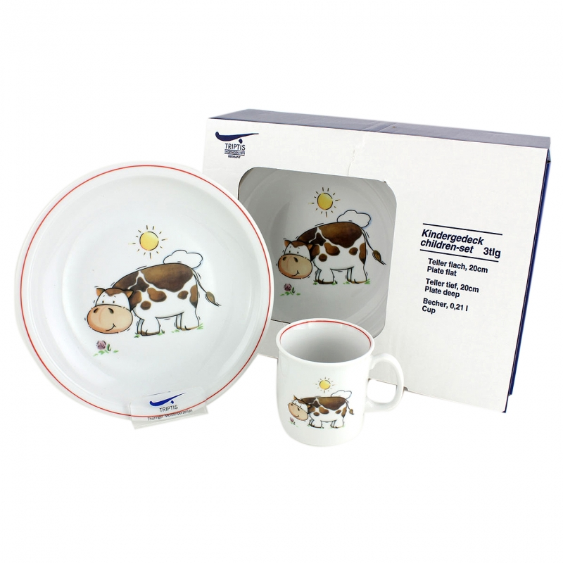 Kindergedecke | Kuh | Set 3tlg.