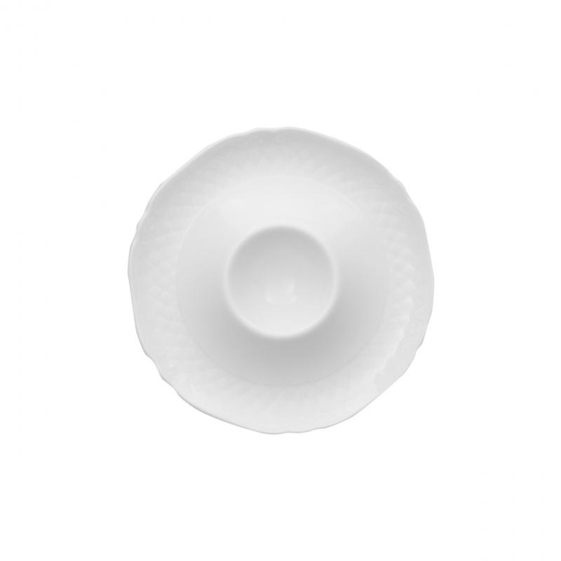 La Reine | Weiß | Eierbecher mit Ablage 13cm