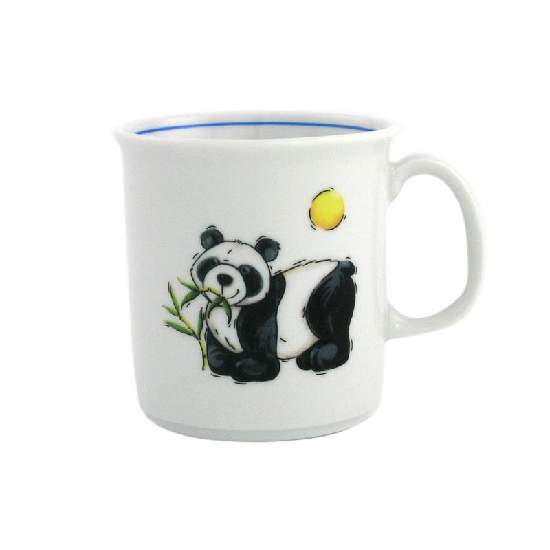 Kindergedecke | Panda | Becher mit Henkel 0,21l