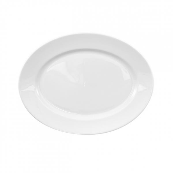Primavera | Weiß | Platte oval 24cm