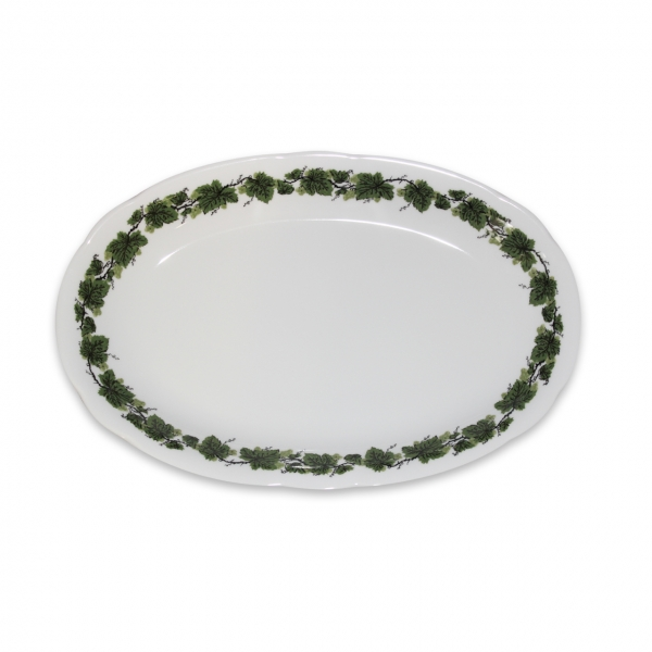 Romantika   Weinlaub   Platte oval 23cm