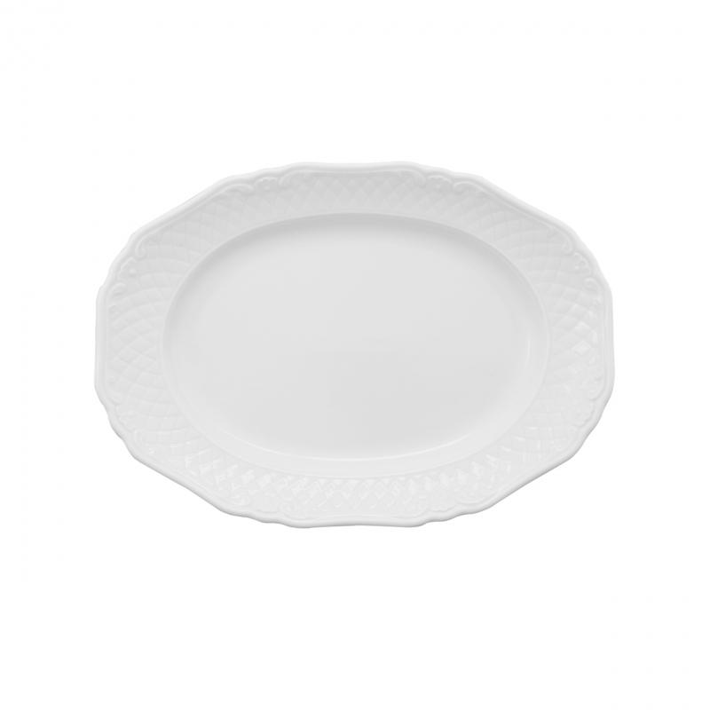 La Reine | Weiß | Platte oval 25cm