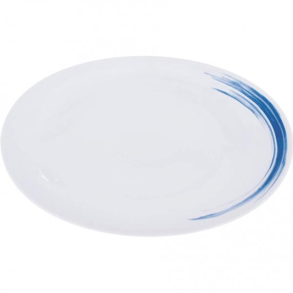 Simply Coup   Pinselstriche blau   Platte oval coup 38cm