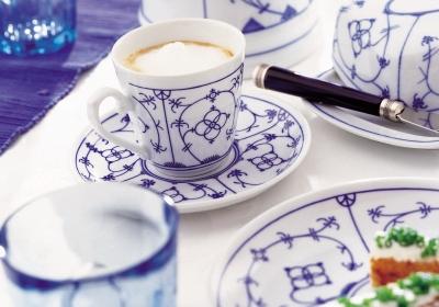 Tallin | Indischblau | Kaffeeset 18-tlg.