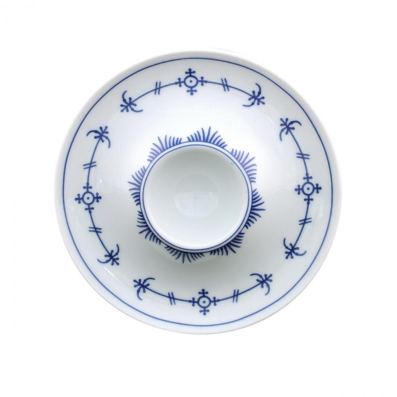 Tallin | Indischblau | Eierbecher mit Ablage 13cm