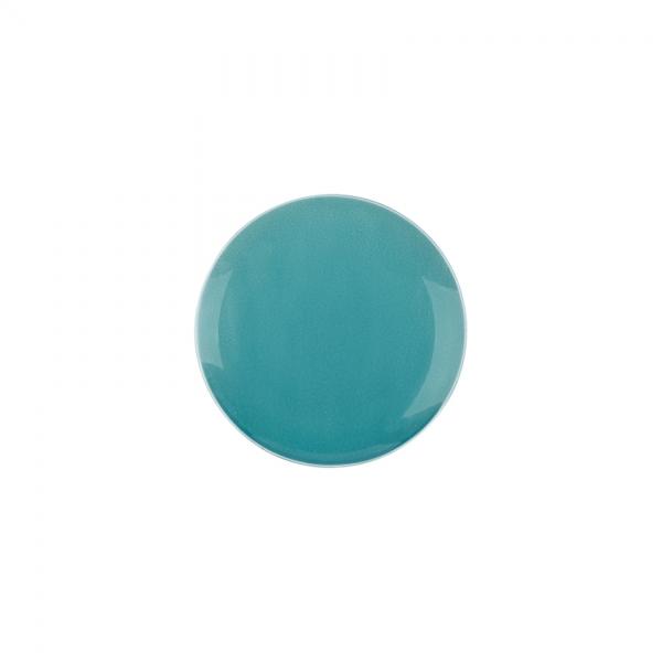 Kaleido | caribic teal | Teller flach coup 17 cm