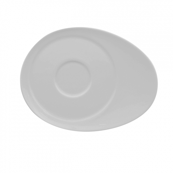 Universo | Weiß | Untertasse oval 18,5cm x 14,5cm