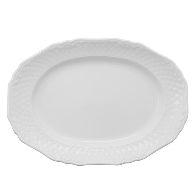 La Reine | Weiß | Platte oval 36cm