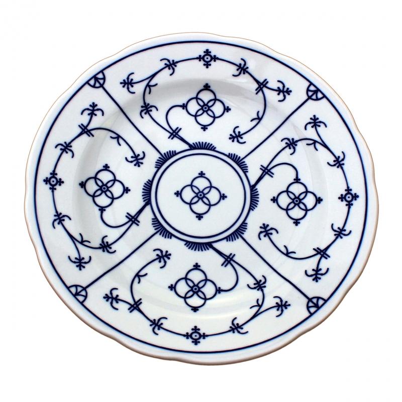 Tallin | Indischblau | Teller flach festoniert 21cm