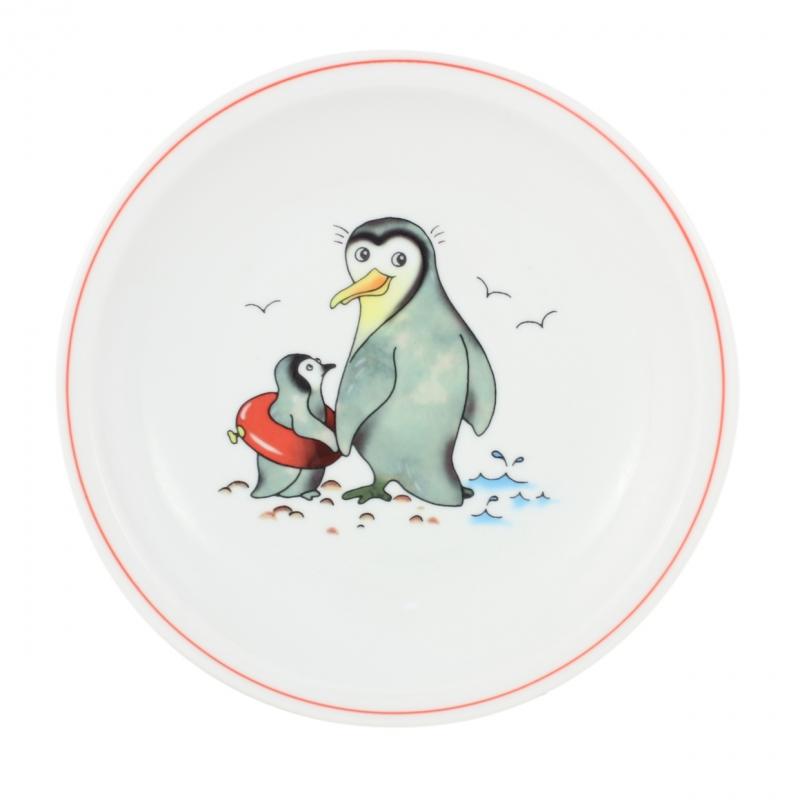 Kindergedecke | Pinguin | Teller flach 20cm