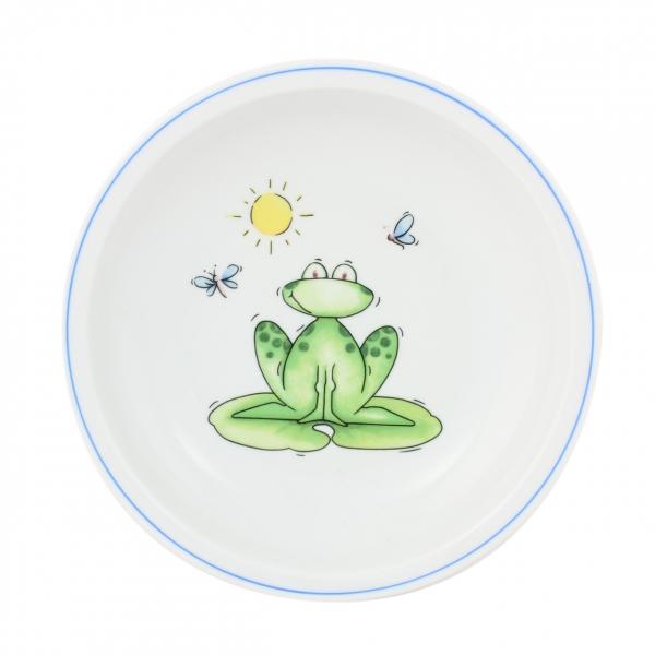 Kindergedecke   Frosch   Teller tief 20cm