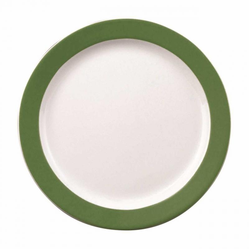 Color mit System | Dunkelgrün | Teller flach 25,5cm
