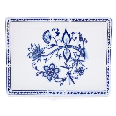 Romantika   Zwiebelmuster   Partyplatte eckig 21cm x 35cm