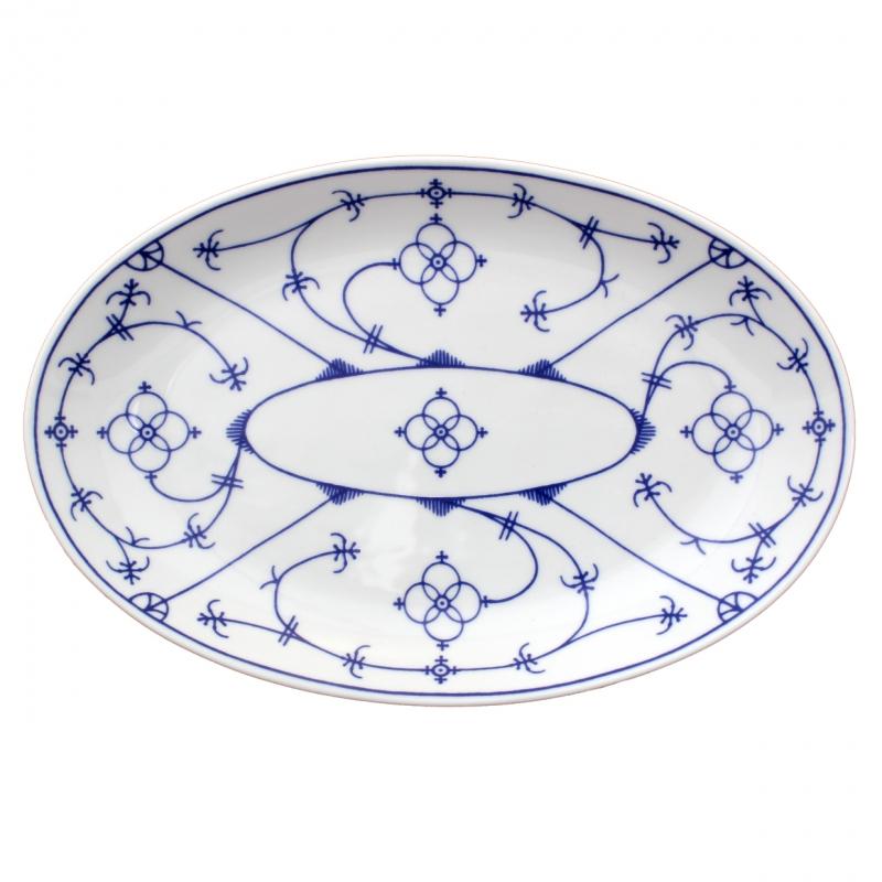 Tallin | Indischblau | Platte oval 24cm