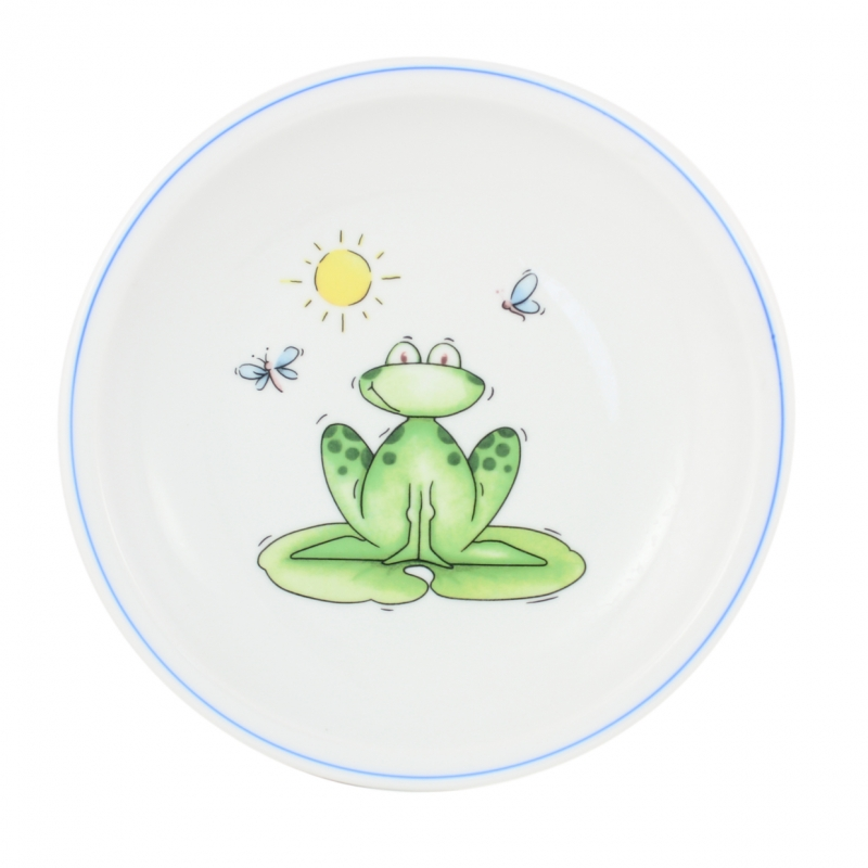 Kindergedecke | Frosch | Teller flach 20cm