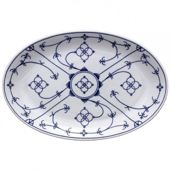 Tallin   Indischblau   Platte oval 28cm