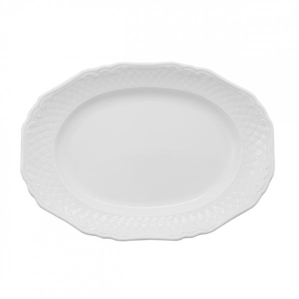La Reine | Weiß | Platte oval 32cm