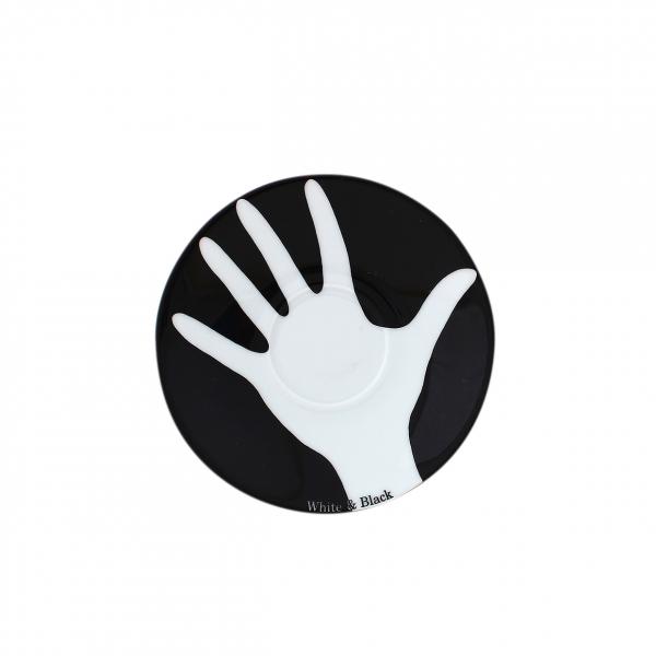 Table Selection | Opposites white & black | Untertasse 12cm