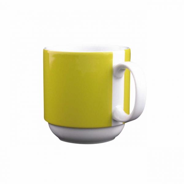 Color mit System | Gelb | Becher mit Henkel 0,30l