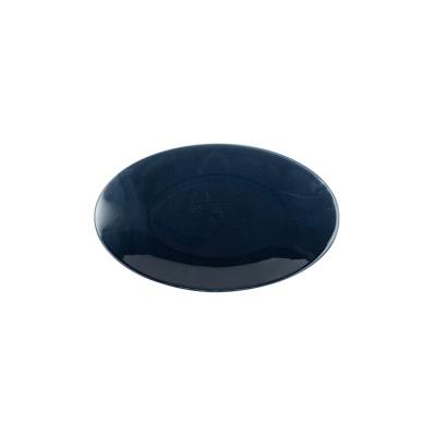Kaleido | midnight | Platte oval coup 23 cm