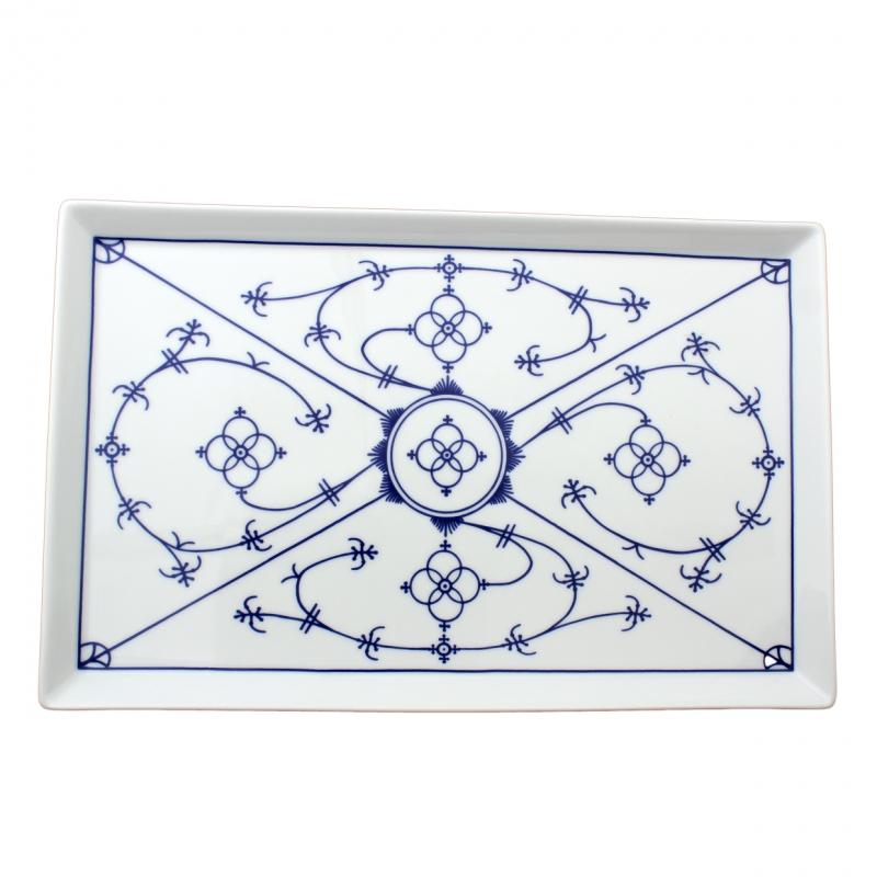 Tallin | Indischblau | Partyplatte eckig 21cm x 35cm