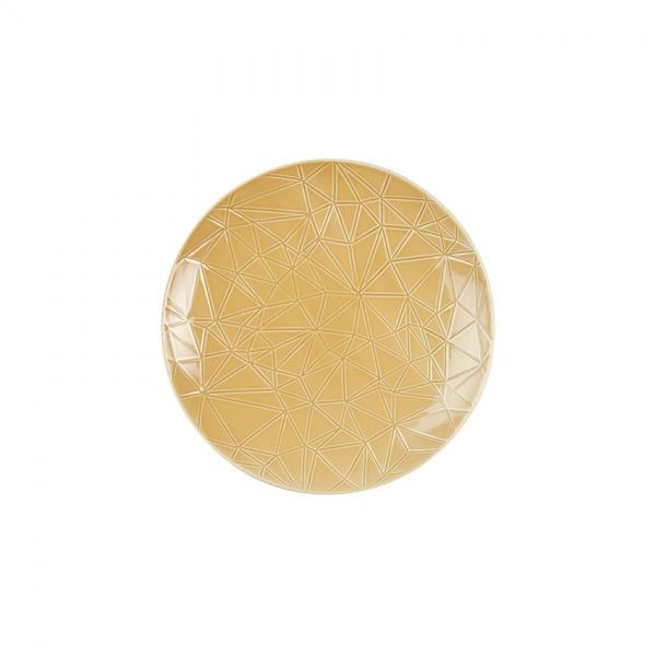Kaleido | sahara gold | Teller flach coup 21 cm