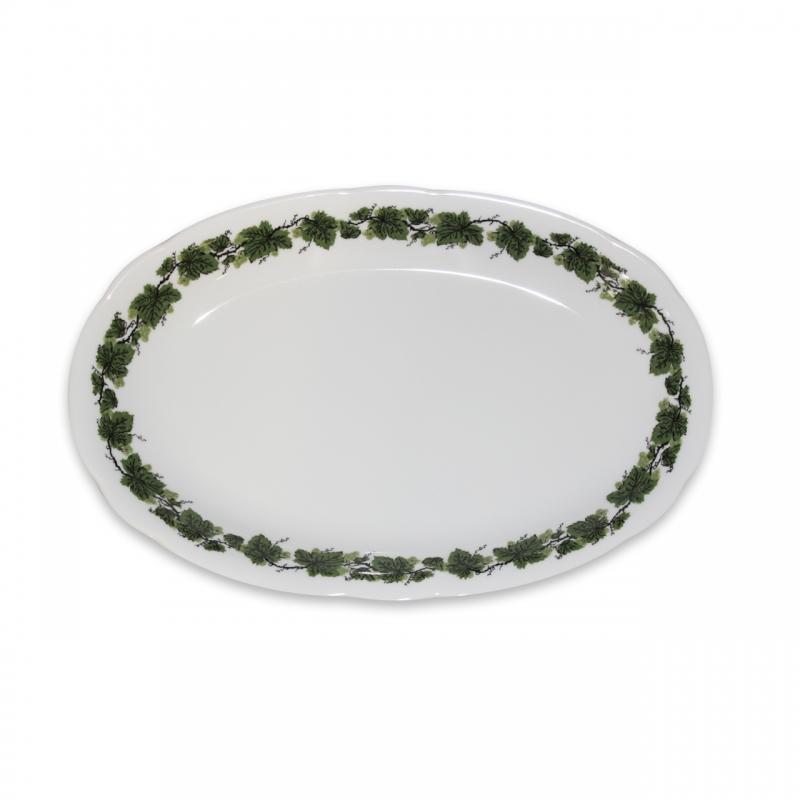 Romantika | Weinlaub | Platte oval 23cm