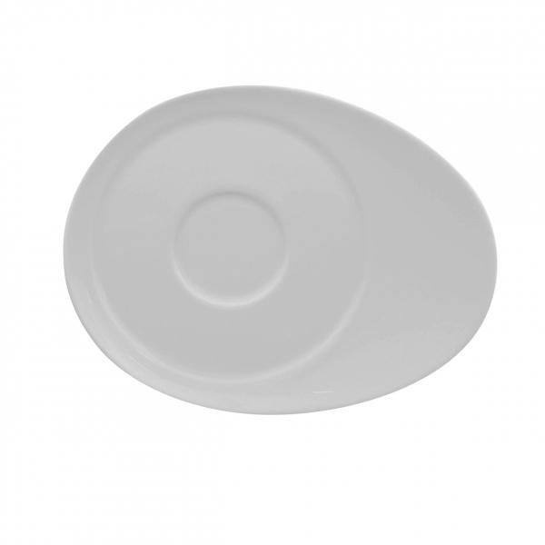 Universo | Weiß | Untertasse oval 14cm x 11cm