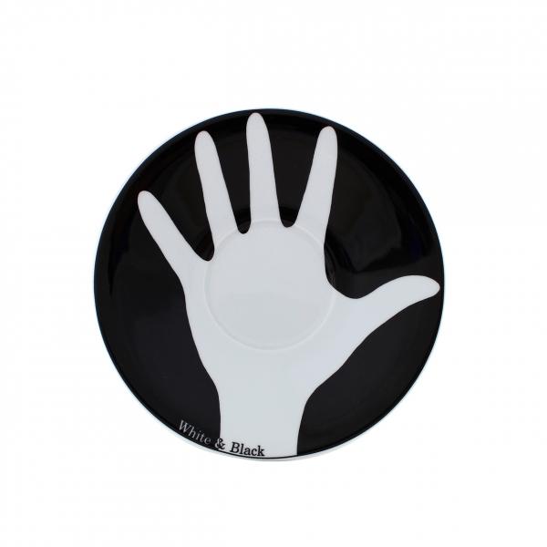 Table Selection   Opposites white & black   Untertasse 18cm