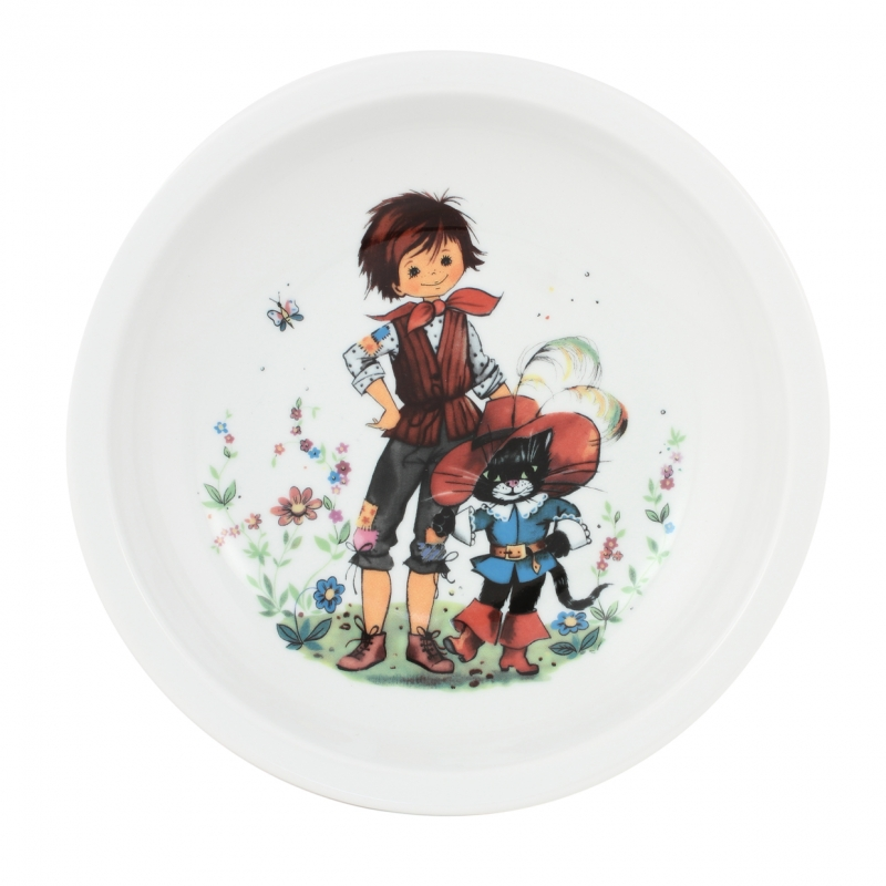 "children place setting |fairy tale print ""Puss in Boots"" 