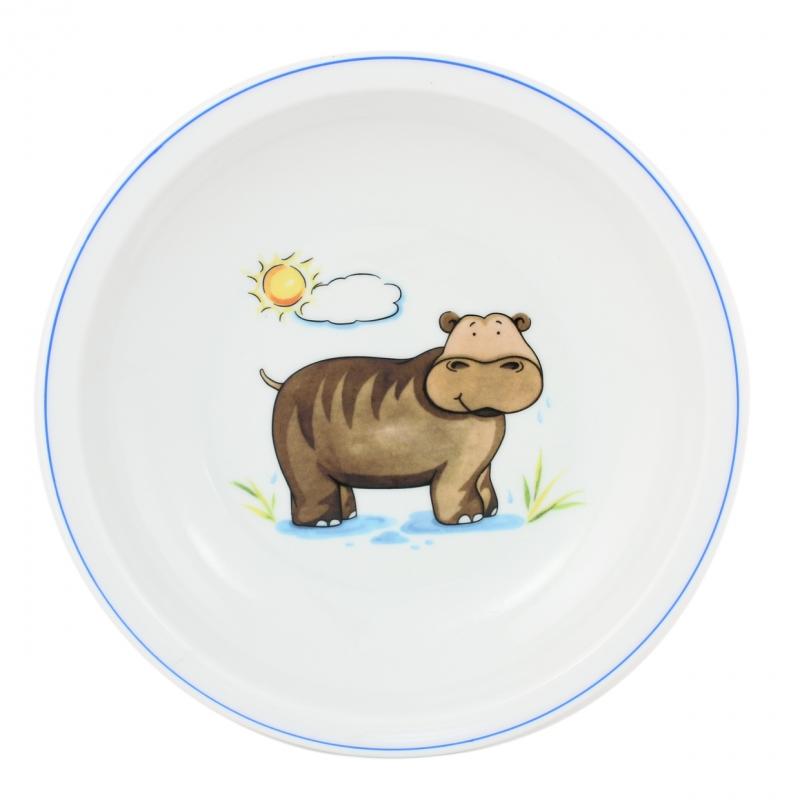 Kindergedecke | Nilpferd | Teller tief 20cm