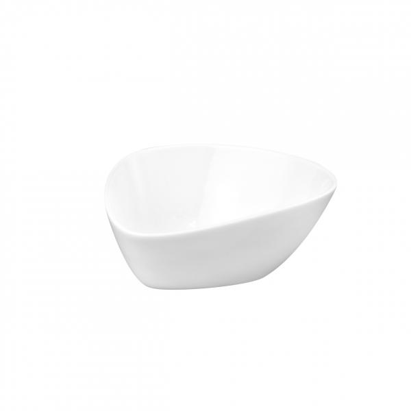 Buffet-Highlights   Weiß   Teller dreieckig hoch 12cm x 10cm x 5cm