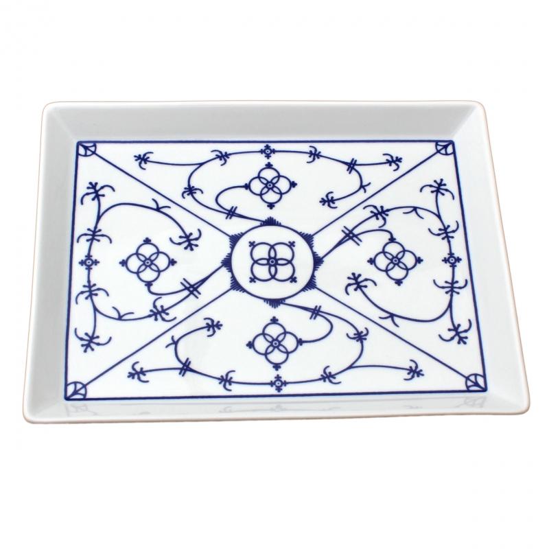 Tallin | Indischblau | Partyplatte eckig 15cm x 20cm