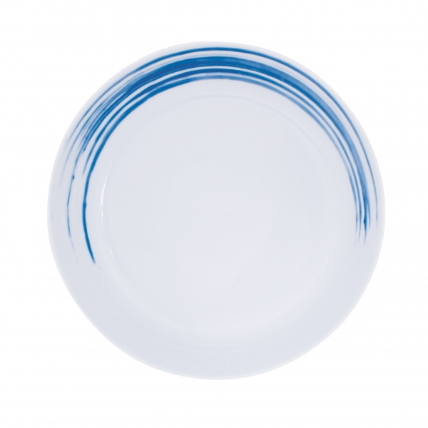 Simply Coup | Pinselstriche blau | Teller tief coup 20,5cm