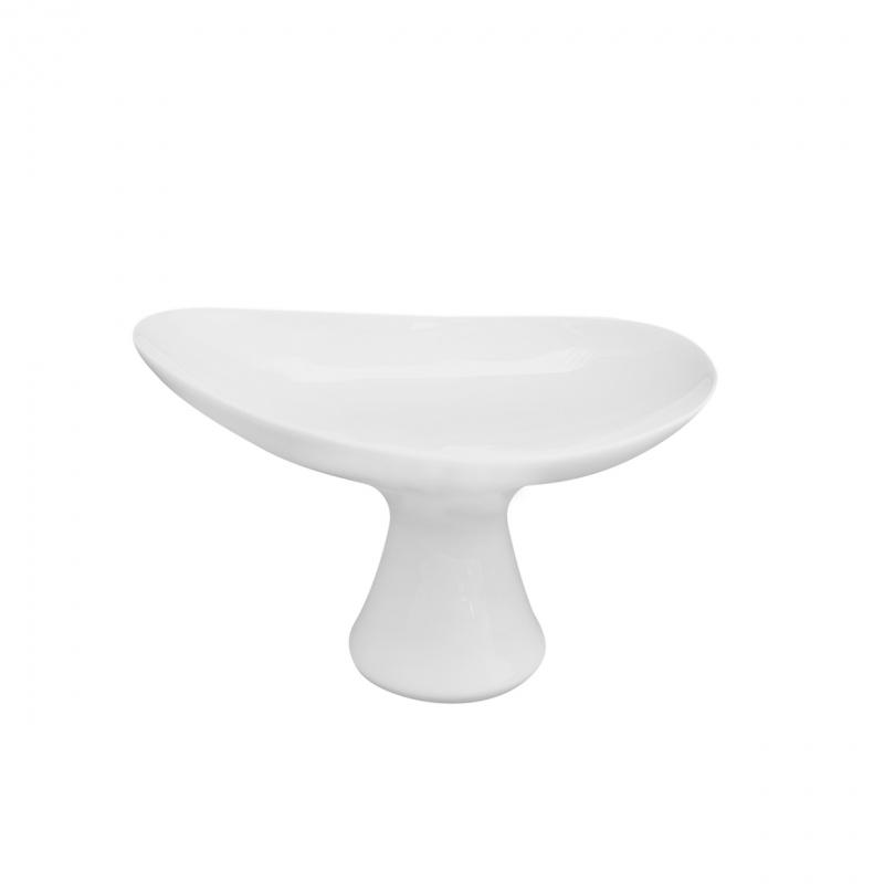 Buffet-Highlights | Weiß | Fußschale 15,5cm x 10,5cm x10cm