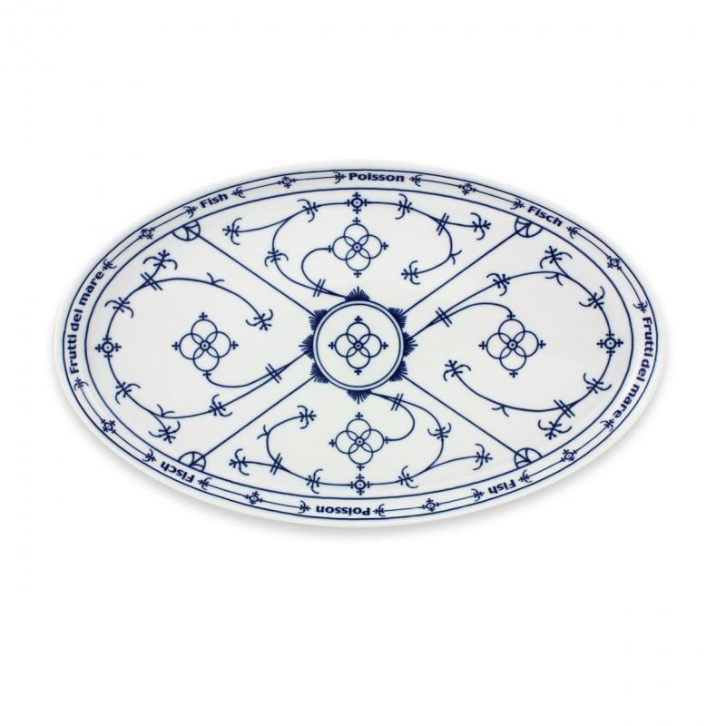 Tallin | Indischblau | Fischteller oval 32cm