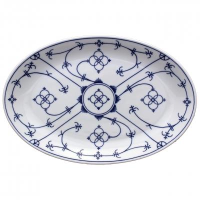 Tallin | Indischblau | Platte oval 32cm