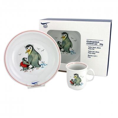 Kindergedecke   Pinguin   Set 3tlg.