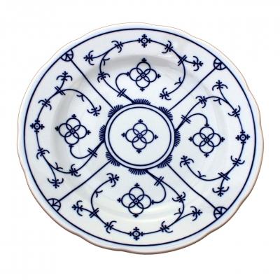 Tallin   Indischblau   Teller flach festoniert 21cm