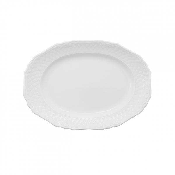 La Reine   Weiß   Platte oval 25cm