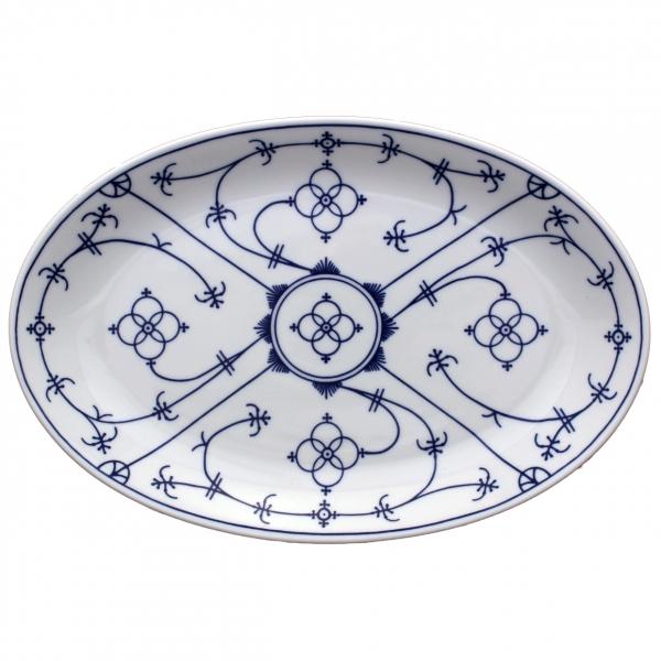Tallin   Indischblau   Platte oval 32cm
